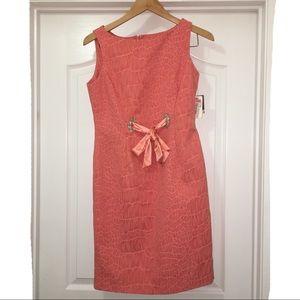 Taylor Salmon Sleeveless Dress Size 6 NWT